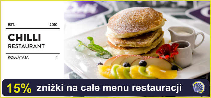 15% rabatu na całe menu w Chilli Cocktail Bar & Restaurant